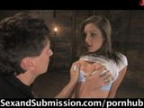 Hot Babe In First Time Sex And BDSM!