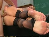 Sexy teacher Tanya Tate takes her students cock balls deep